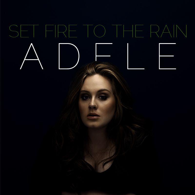 Adele – Set Fire to the Rain (single cover art)