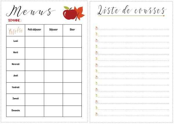 Printable Automne pour Bullet Journal | Bullet, Bujo and