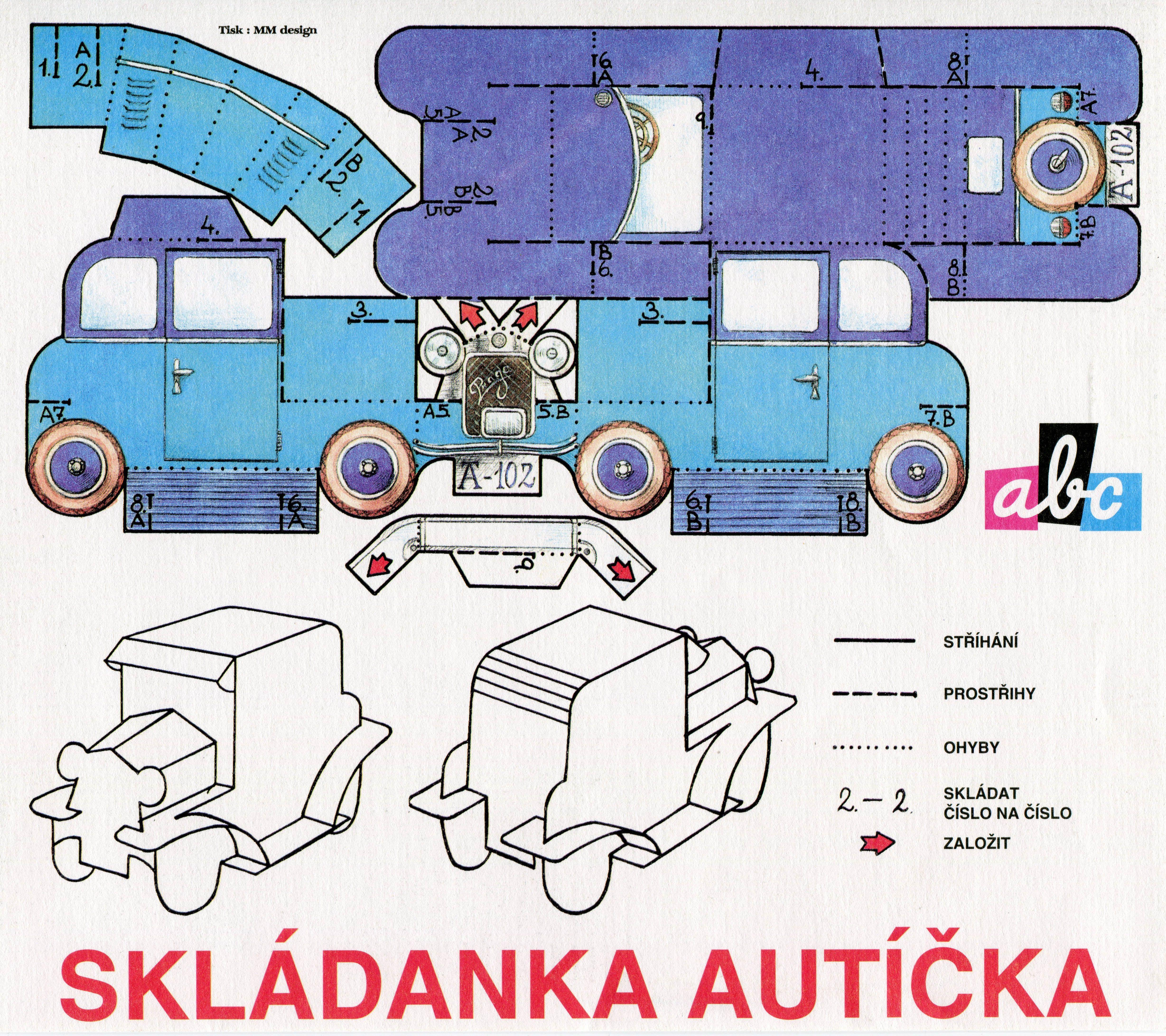 Paper Classic Car Praga