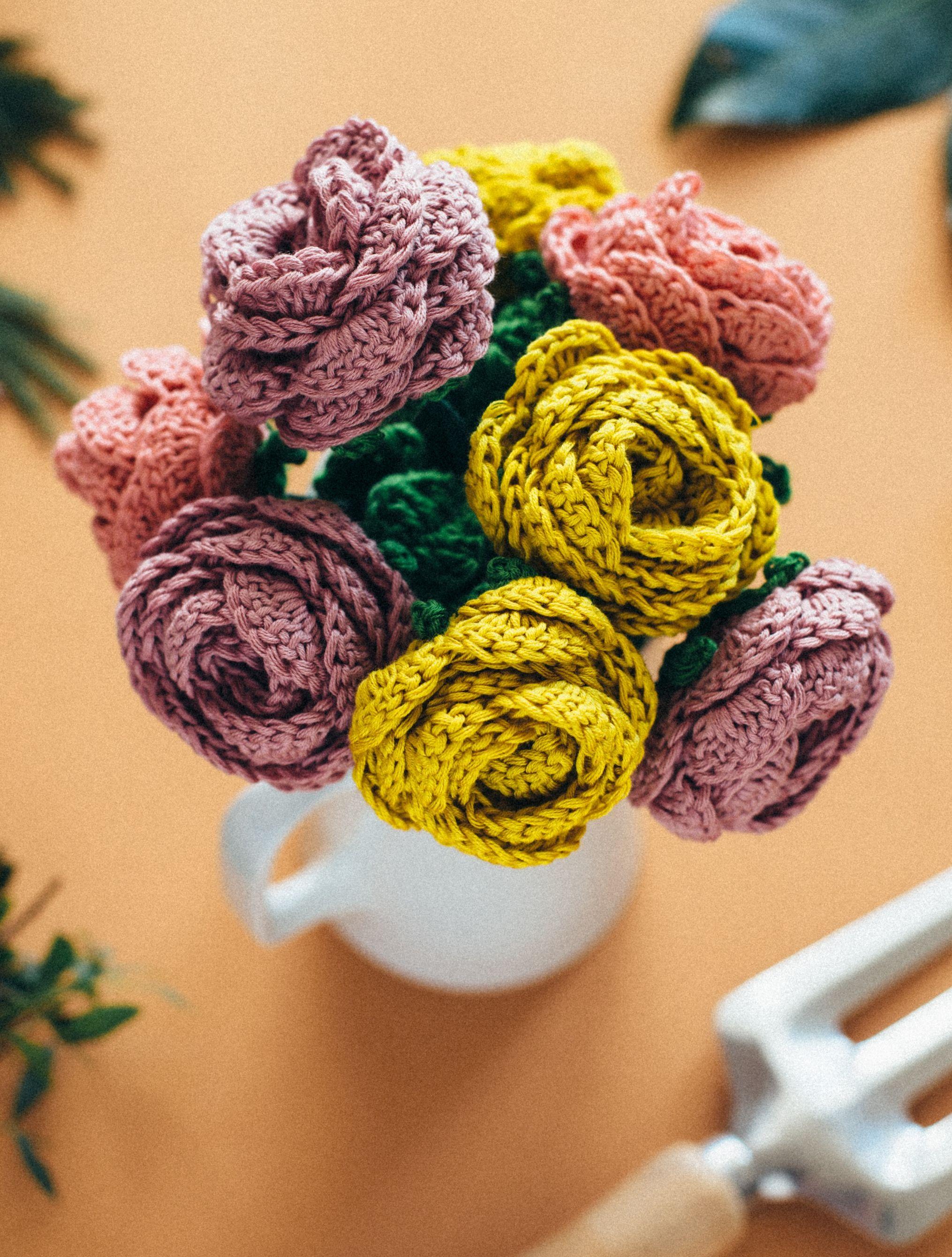 DIY: crochet flower bouquet | crochet | Pinterest | Blume, Muster ...