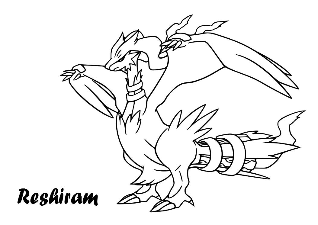 Reshiram Pokemon Coloring Pages