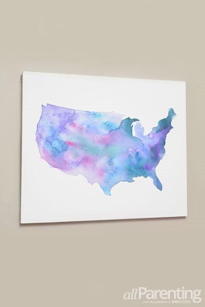 Beautiful And Meaningful Diy Map Art Watercolor Art Diy