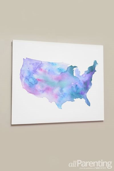 Beautiful And Meaningful Diy Map Art Watercolor Art Diy