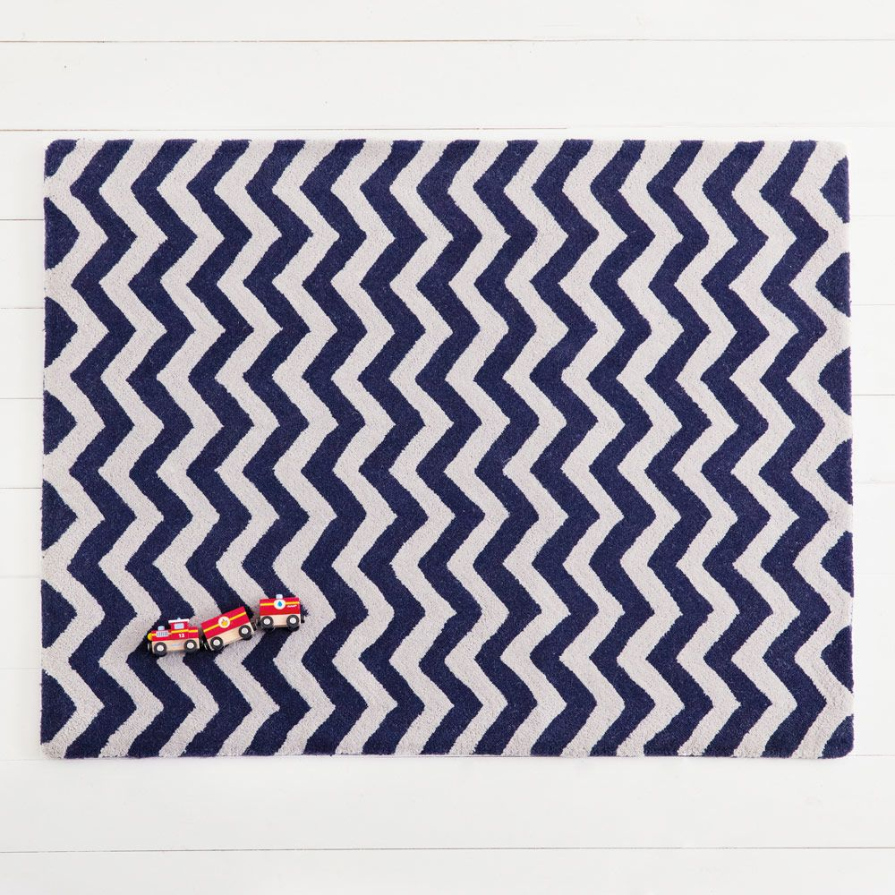 Navy Chevron Rug Rugs Bedding Room Accessories