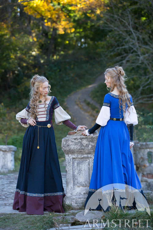 """kleid mit pseudofrauenhemd """"renaissance erinnerung"""" in"""