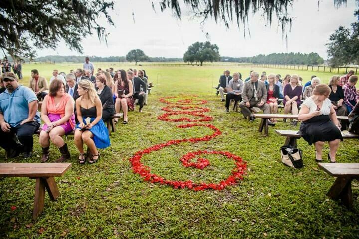Barrington Hill Farm Wedding Venue Dade City Florida Awesome Floral Aisle Design