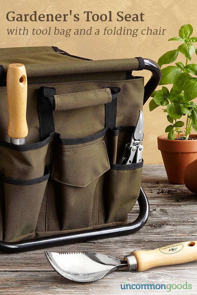 Gardener\'s Tool Seat | Gardening tools, Gardens and Garden ideas