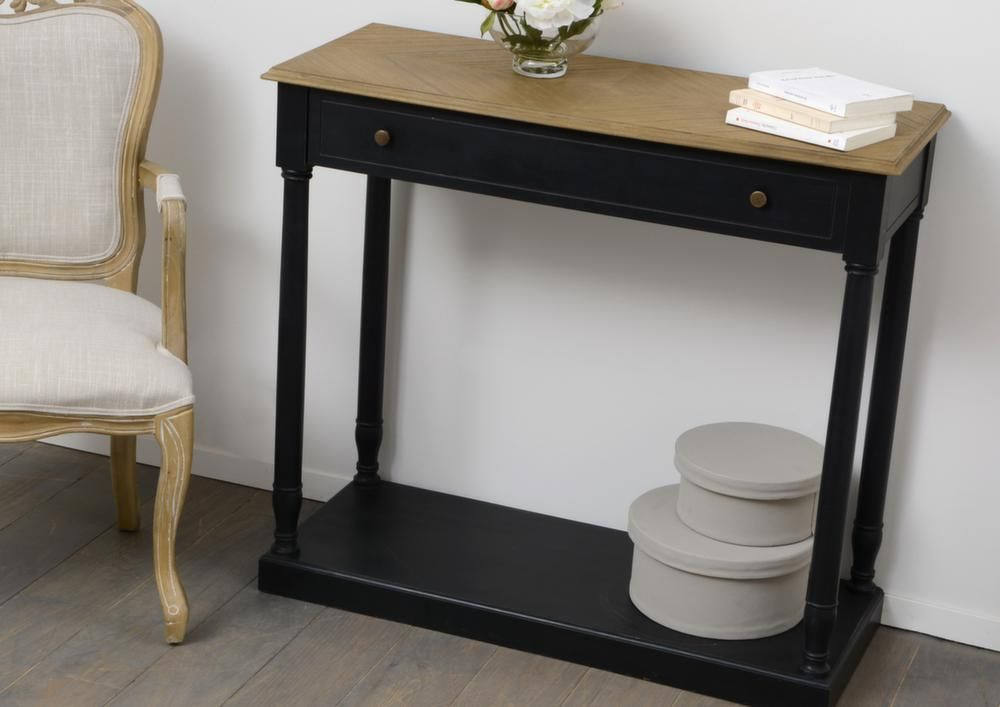 console en bois 1 tiroir marquette sur jardindeco voici une belle id e d co chambre en optant. Black Bedroom Furniture Sets. Home Design Ideas