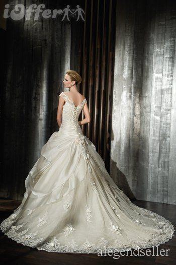 ♥Beautiful Lace Off the shoulder Wedding Dress Bridal G