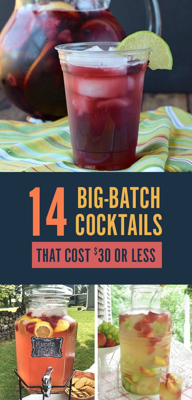 14 Big-Batch Cocktails For Summer That Cost $30 Or Less #cocktaildrinks