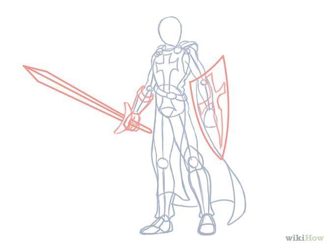 Draw a Knight | Knight drawing, Drawings, Knight art