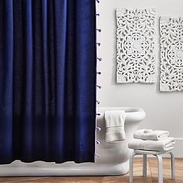 Shower Curtains Pbteen College Blue Shower Curtains