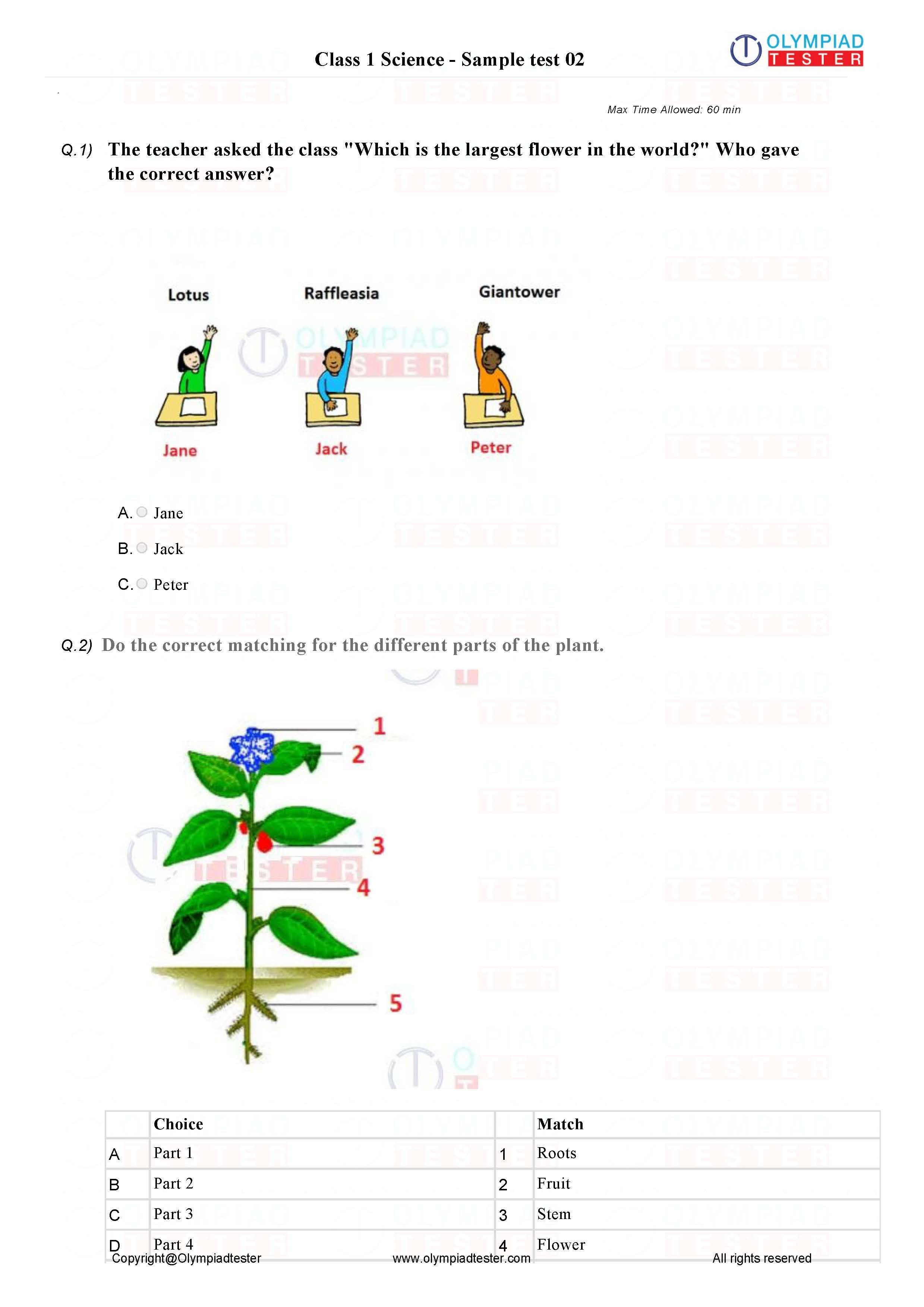 Pin on Class 1 Science / EVS Printable PDF worksheets