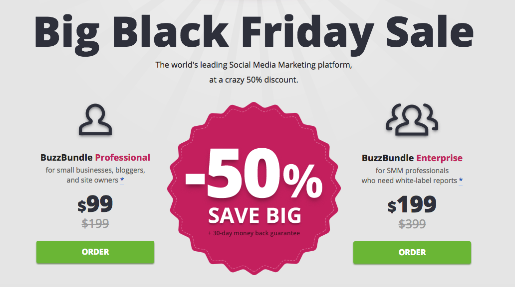BuzzBundle Deal 20 Special Discount March 2020 Black