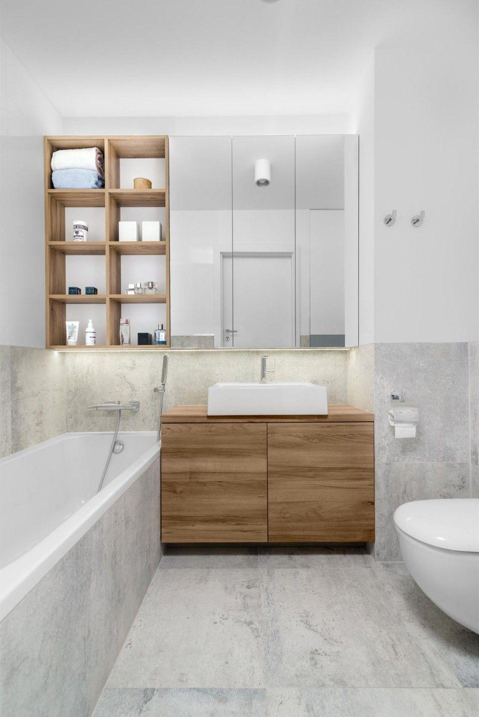 Badezimmer ideen klein grau marvipolatelier apartament dla młodych  badezimmer  pinterest