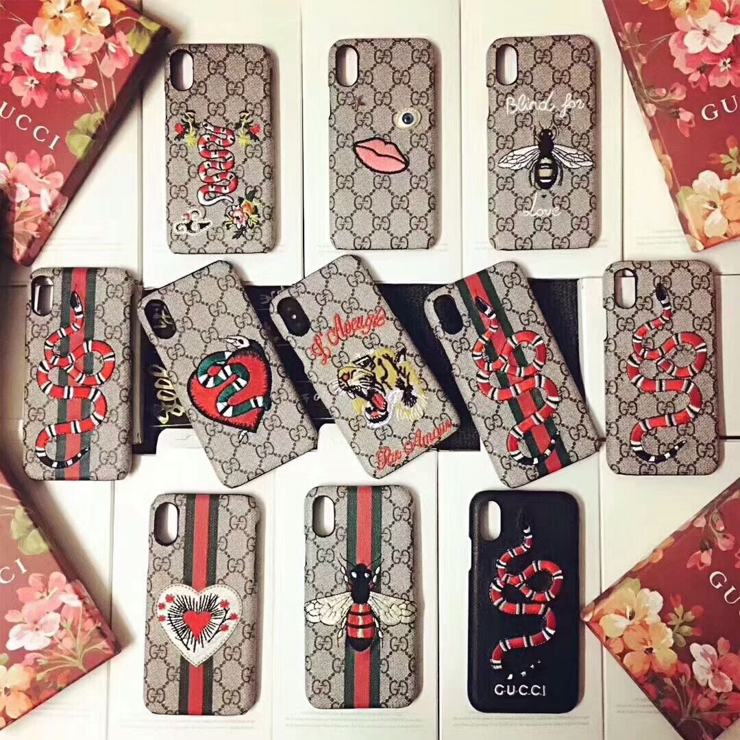 Gucci Embroidery Case For iphone x/iphone6/6plus/7/7plus/8