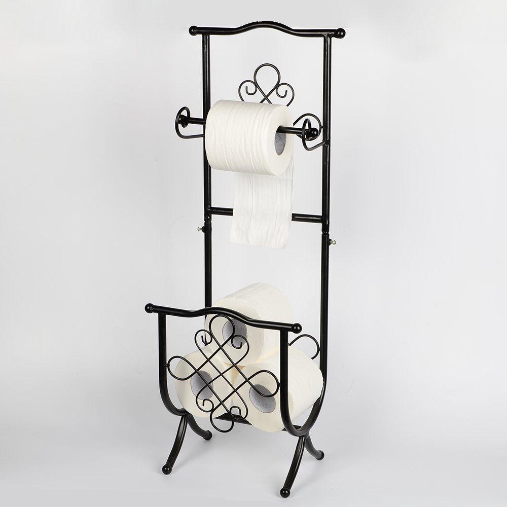 Amazon.com: Huajun Toilet Tissue Paper Holders Bathroom Organizer ...