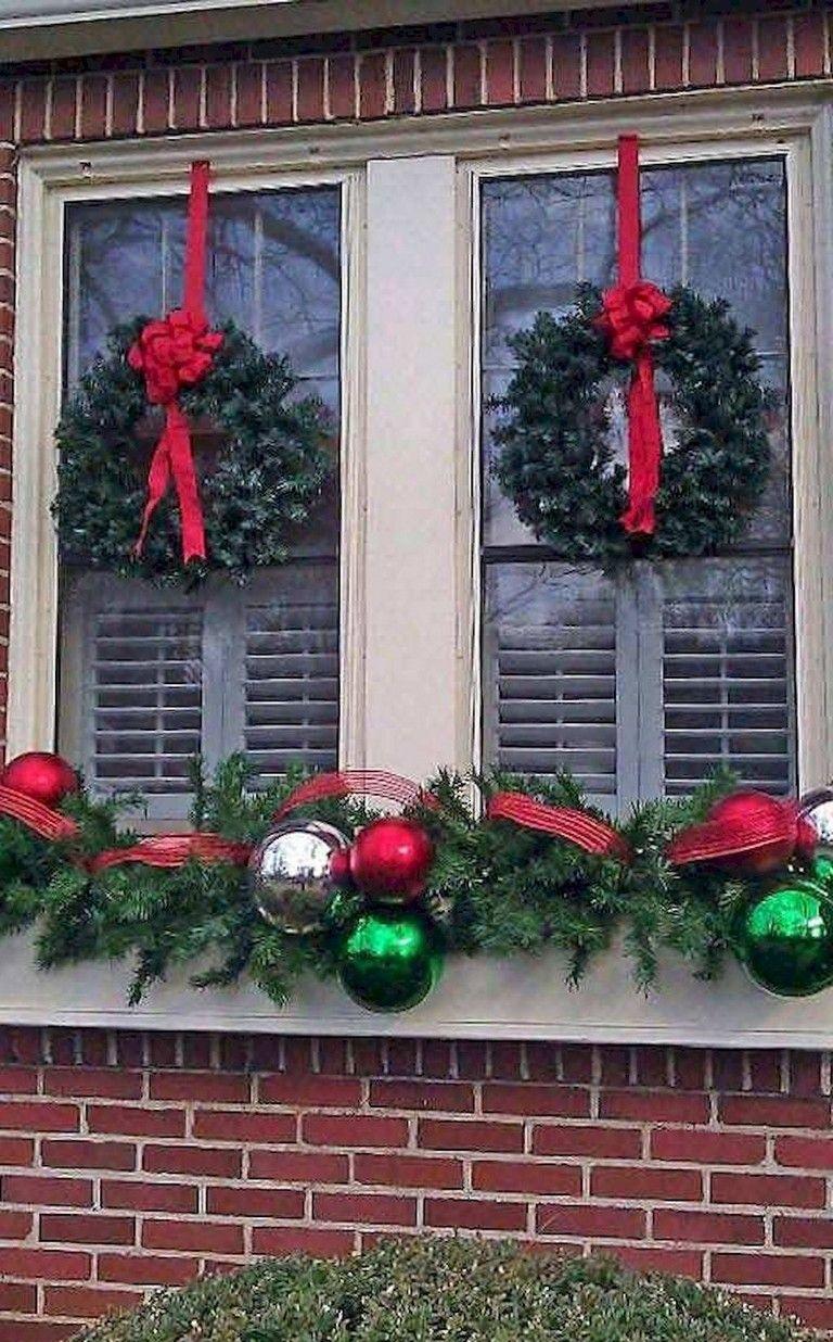 42 Stunning Outdoor Christmas Decoration Ideas Christmas Window