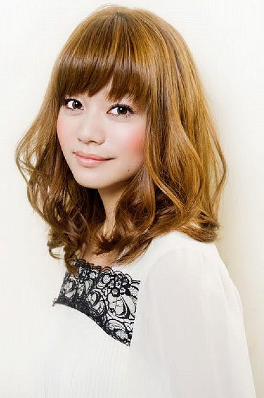 Shoulderlengthbobhairstyleswithbangs cute asian shoulder