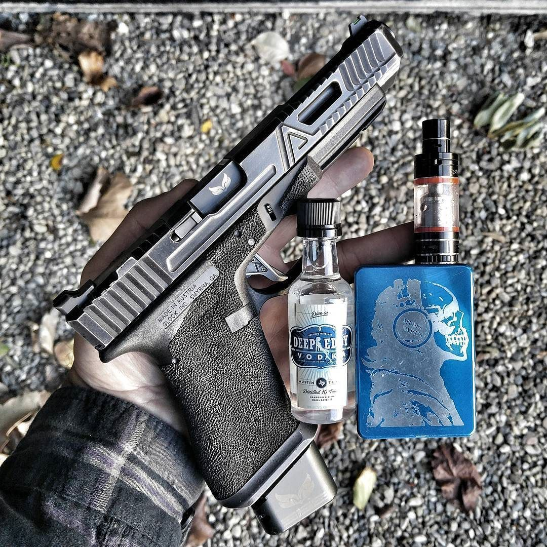 Today's work flow at @agencyarms. My favorite Agency G34 with a @s3fsolutions match barrel. Cerakote was done by @fng_precision_coatings and my vape from @vaporvortex helps me stop dipping. Cause it taste like hard candy watermelon and I'm a basic bitch. #Everydaycarry #rifle #pistol #handgun #guns #gun #NRA #merica #glock #Ar15 #wewhodonotdie #2ndamendment #DTOM #2A #shooter #shooting #shoot #competition #ofbloodandsteel #military #usa #veteran #agencyarms #agency #shooting #s3fsolutions…