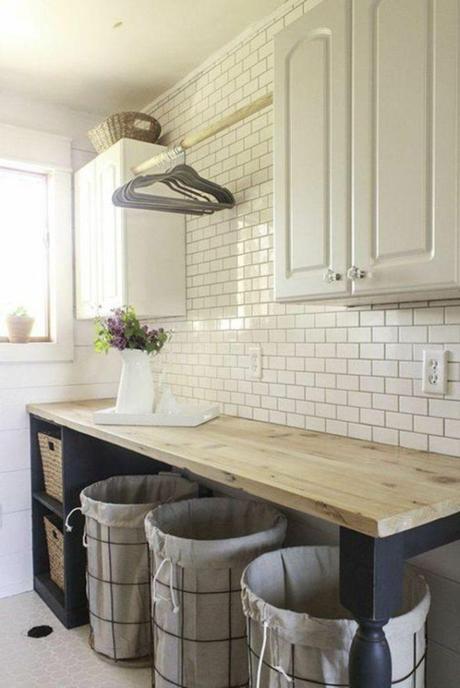 Idée décoration Salle de bain amenagement-buanderie-carreaux-muraux - idee de plan de maison