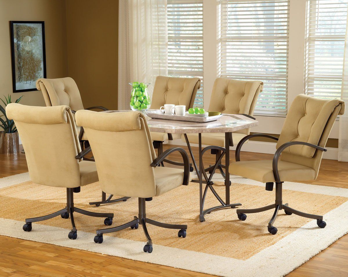 Beautiful Dining Room Chairs On Wheels Images AWconsultingus