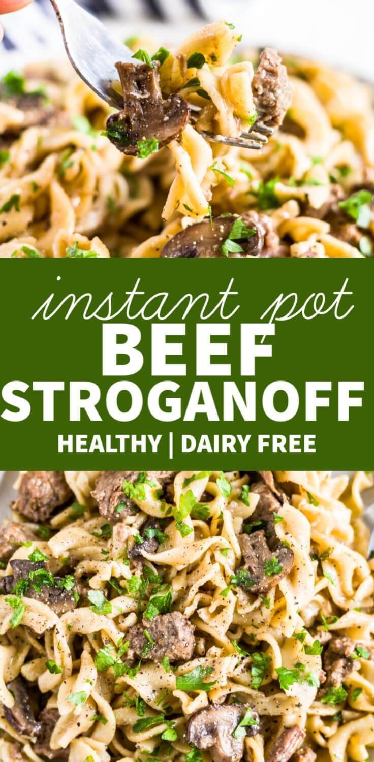 Photo of Healthy Instant Pot Beef Stroganoff | What Molly Made