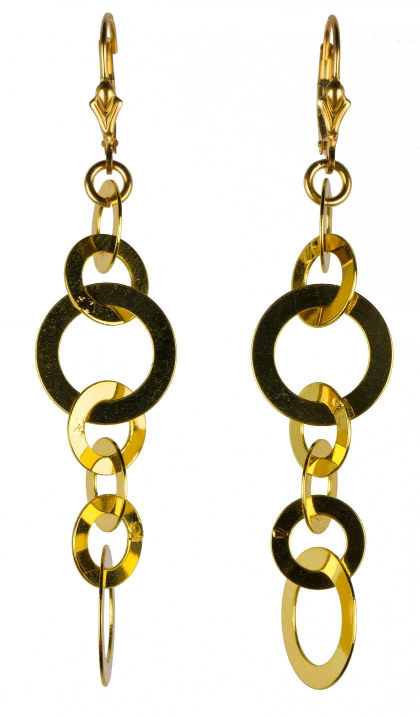 en earrings boutique hoop golden set happiness ring