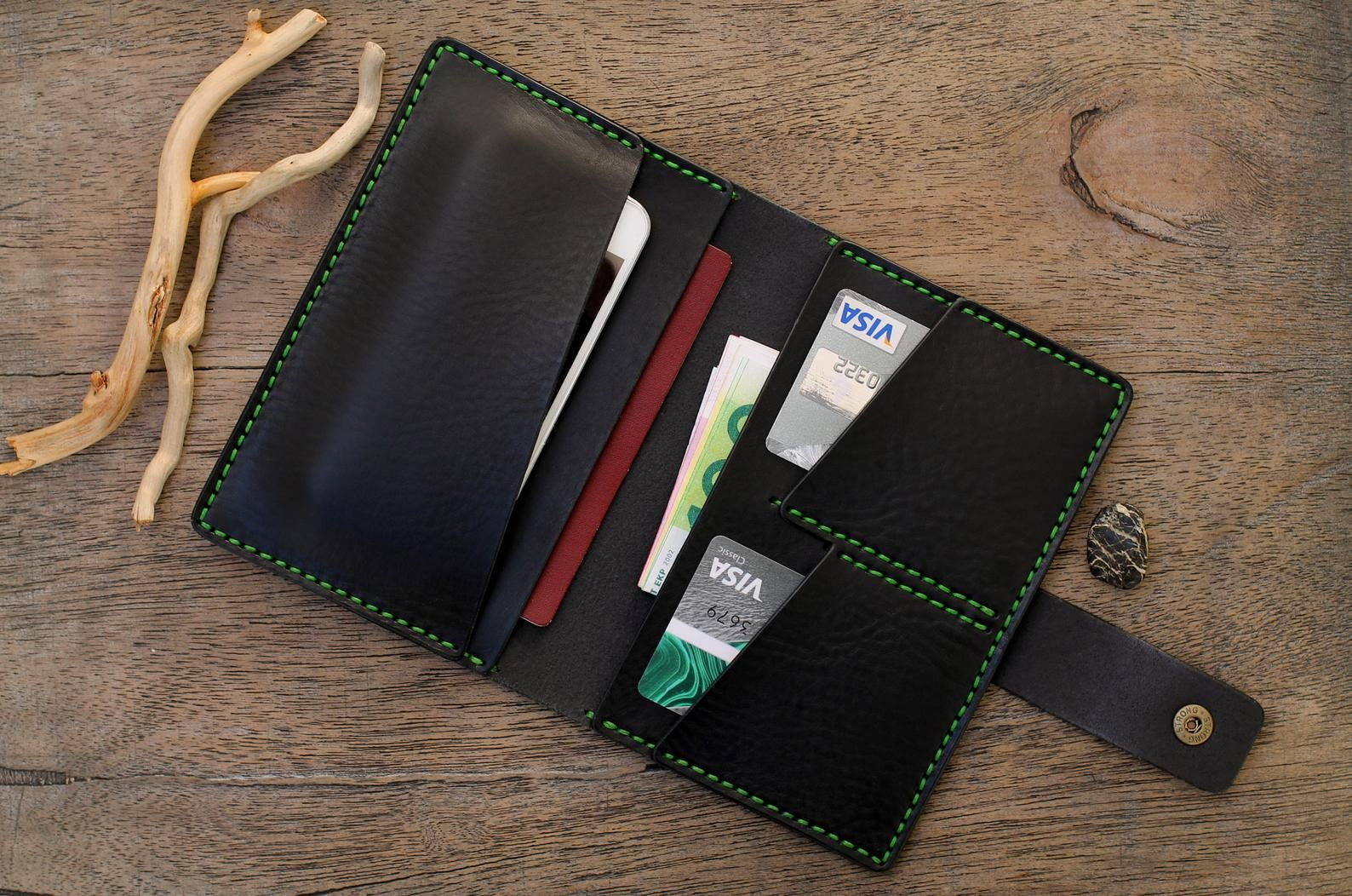 Leather phone case wallet etsy leather phone case