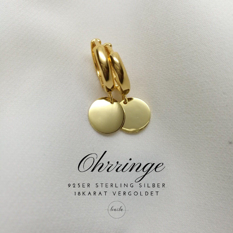 Creolen In Gold Silber O Rosegold Mit Personalisierten