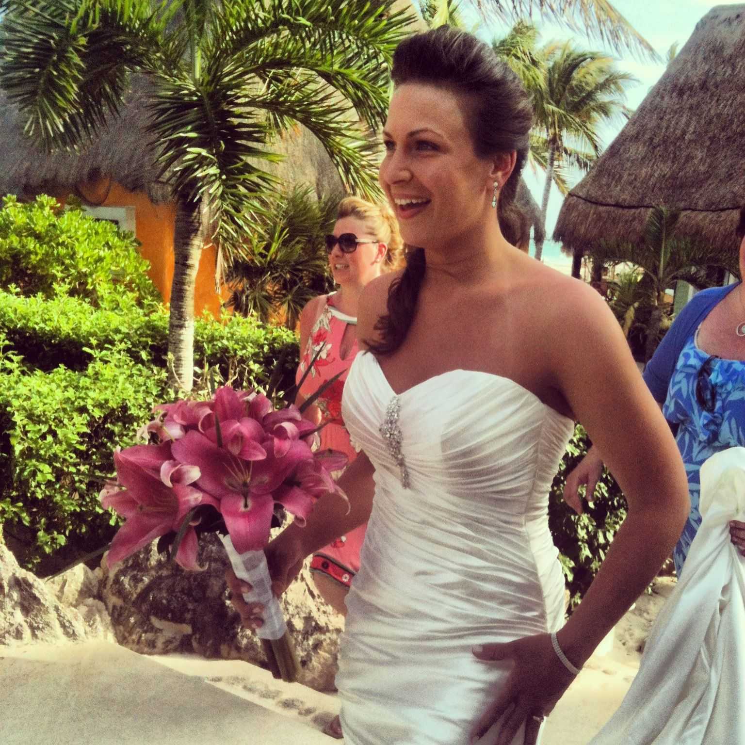 Beautiful Bride Romana Walking To Ceremony, Mahekal Beach
