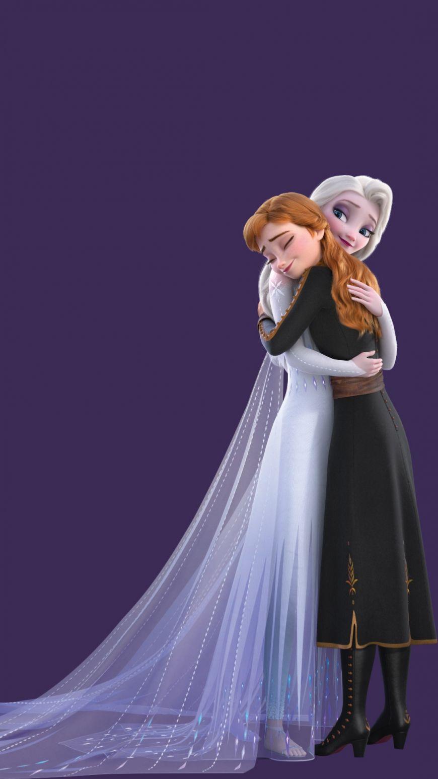 Frozen 2 Hd Background Mobile Elsa Hugs Anna In 2020 Disney Princess Elsa Disney Princess Pictures Frozen Disney Movie