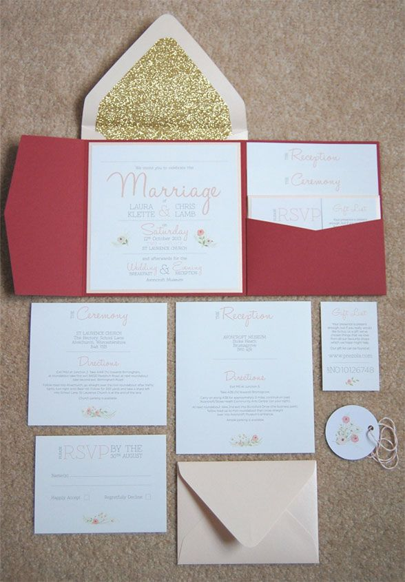 17 Best images about Wedding Invitations – Pocket Cards for Invitations