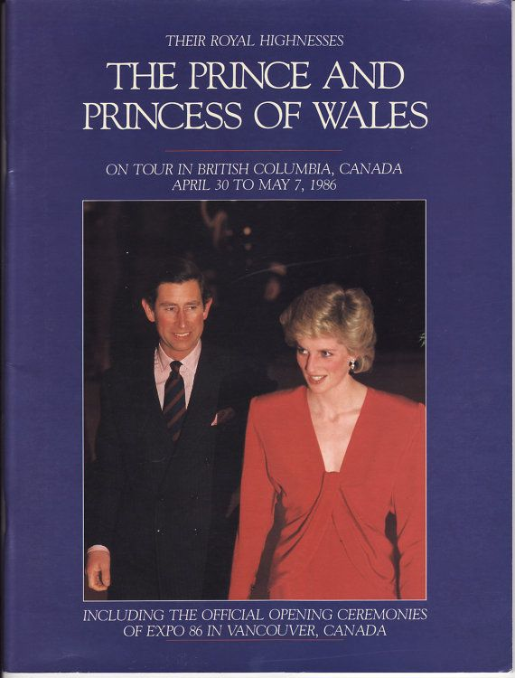 Prince & Princess of Wales tour of BC Canada  1986 by funkdaughter, $18.00