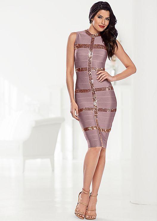 afda0a50543 Sparkles + straps  We ve combined the best! Venus slimming sparkle dress  with Venus high heel strappy sandal.