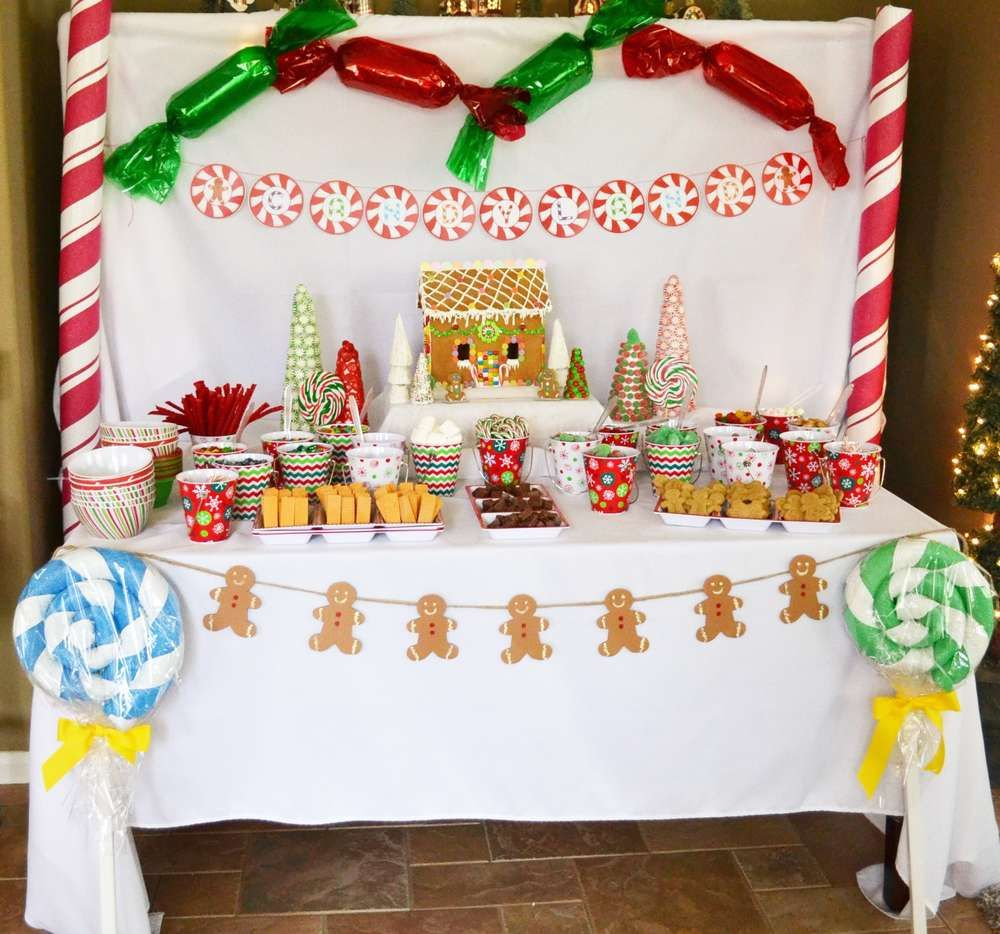 Christmas Party Planning Ideas Part - 45: Candyland Christmas Party Dessert Table! See More Party Planning Ideas At  CatchMyParty.com!