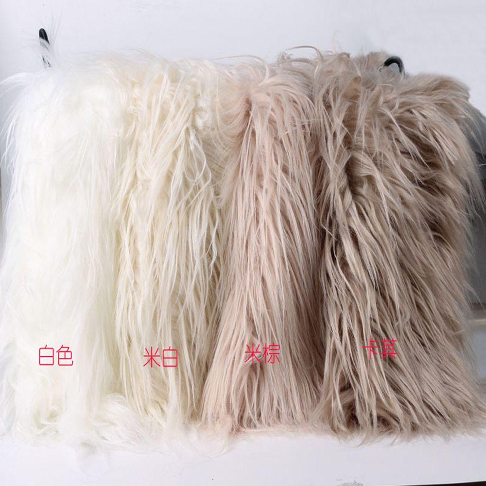 50*60cm Faux Fur Blanket Basket Filler Mongolian Fur Baby Photography Prop Blanket