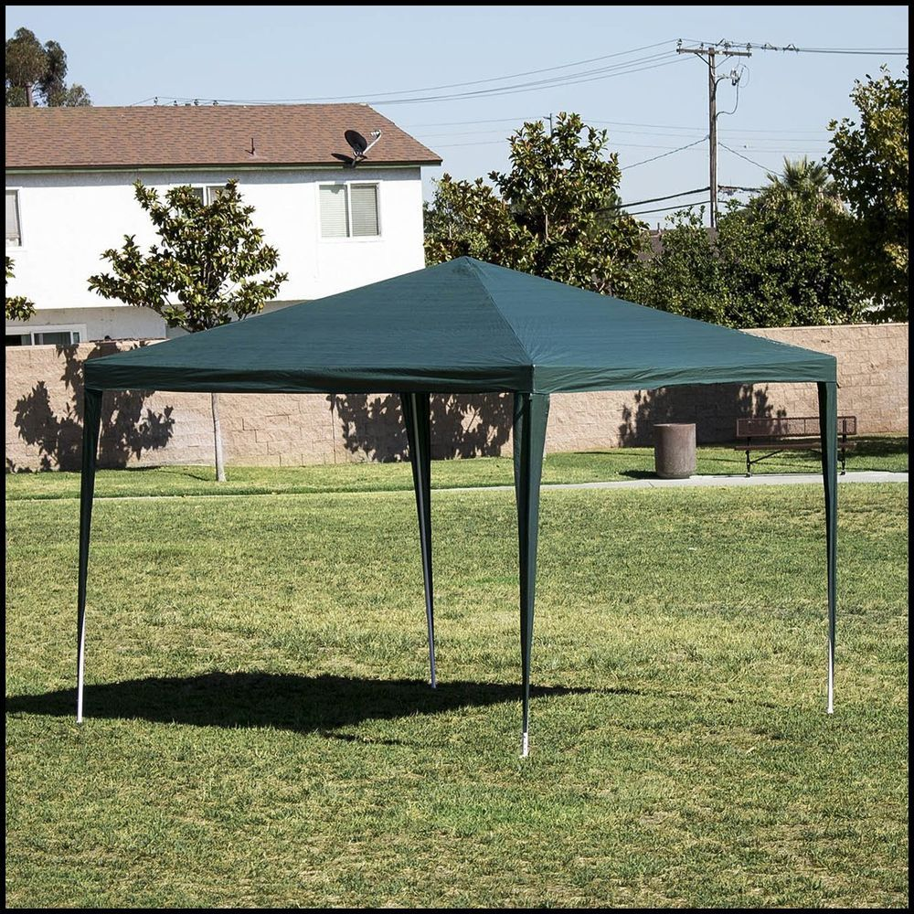 Outdoor Canopy Shelter 10x10 Green Patio Backyard Shade Cover Steel Fabric  US $79.51#OutdoorCanopyShelter