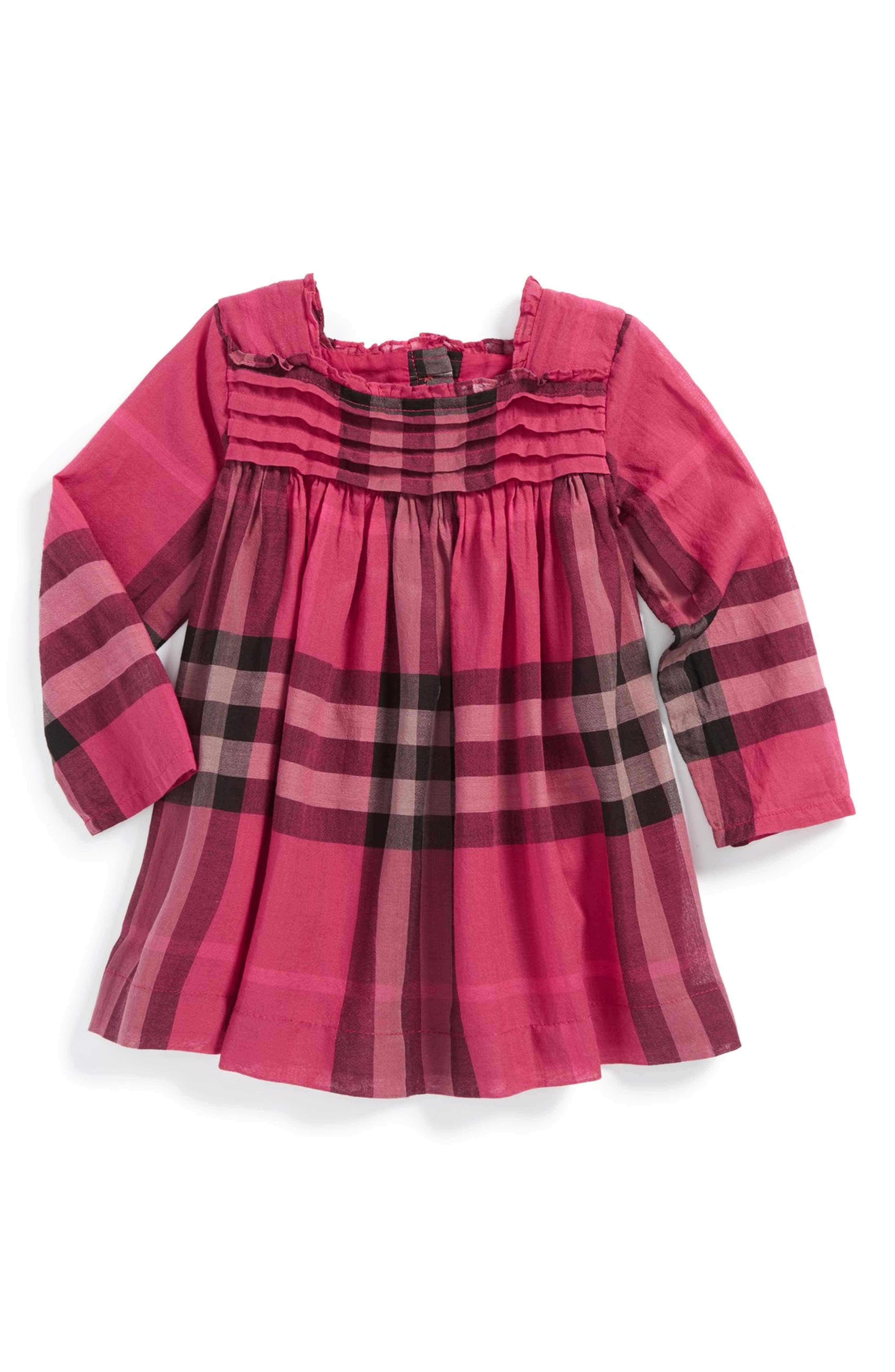 bcc347455 Main Image - Burberry 'Luna' Check Print Dress (Baby Girls) | ชุดลาย ...