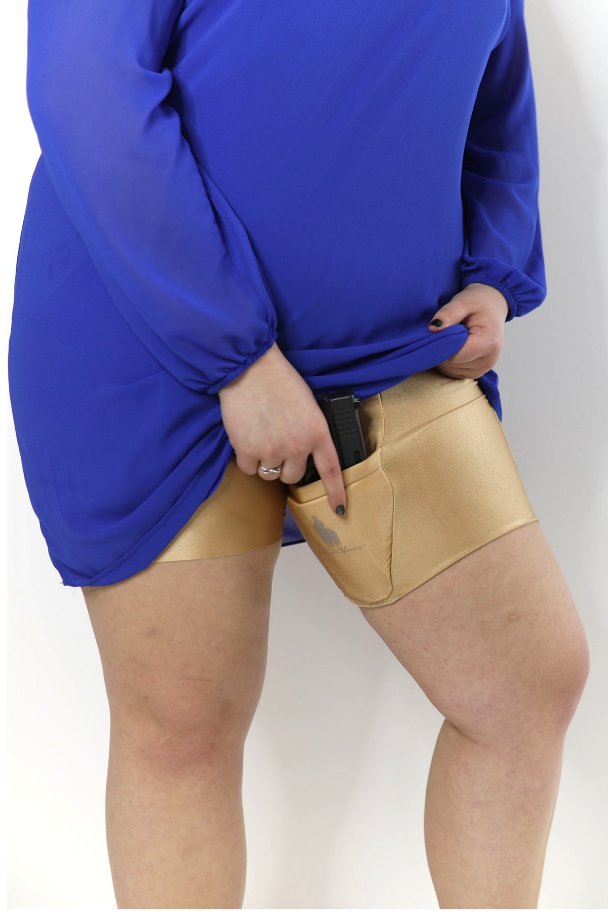 Nude Body Shaping Thigh Holster Shorts | Weapons, Holsters