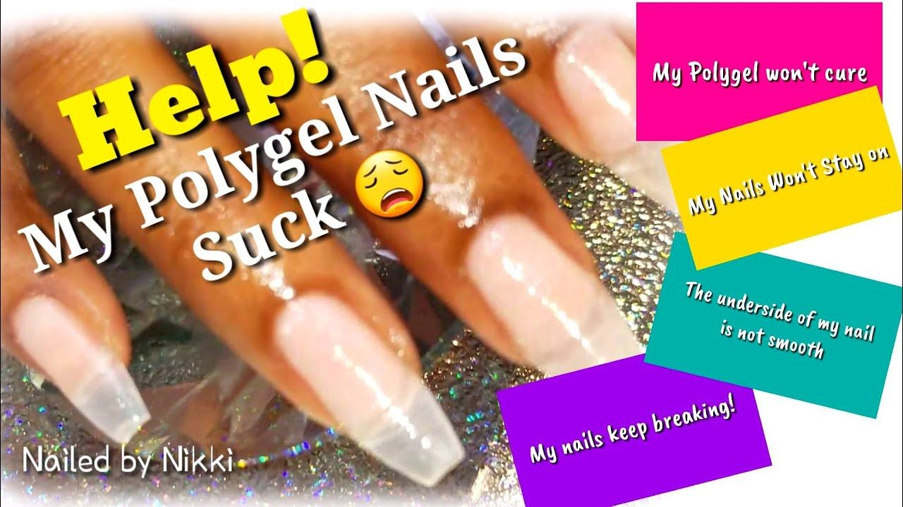 Trouble Shooting Polygel Issues Using Yayoge Polygel Polygel Nails Acrylic Nails At Home Diy Nails Manicure