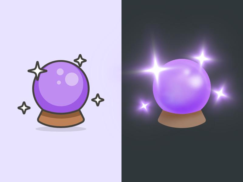 Crystal Ball Streamline Emoji Redesign Crystal Ball Ball Drawing Crystals