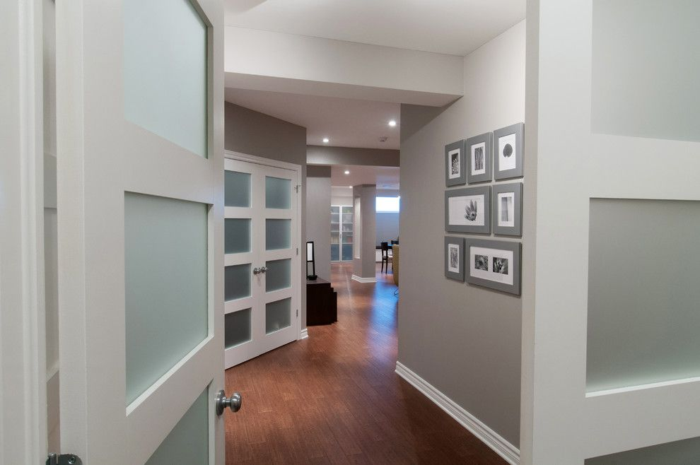 Crisp Clean Contemporary Basement Ottawa Just Basements