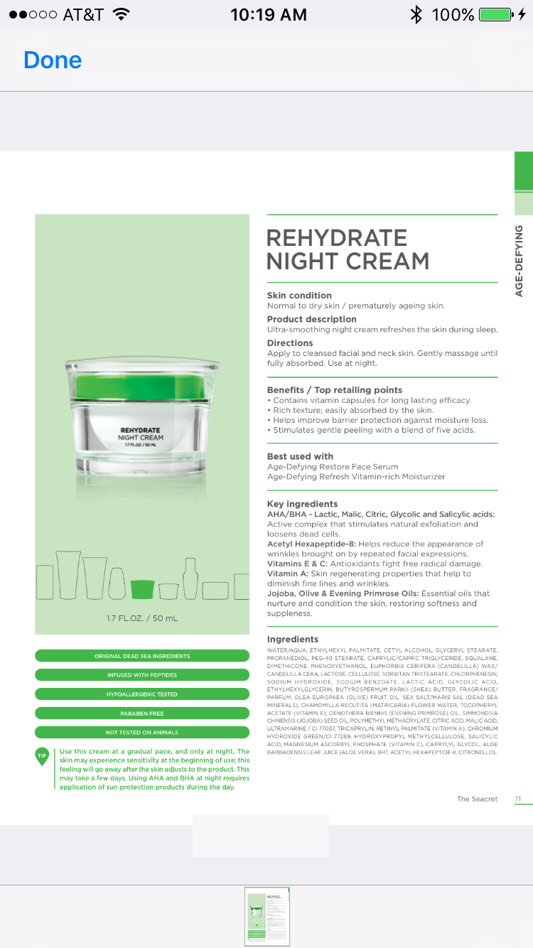 Rehydrate night cream! #agedefying #seacret