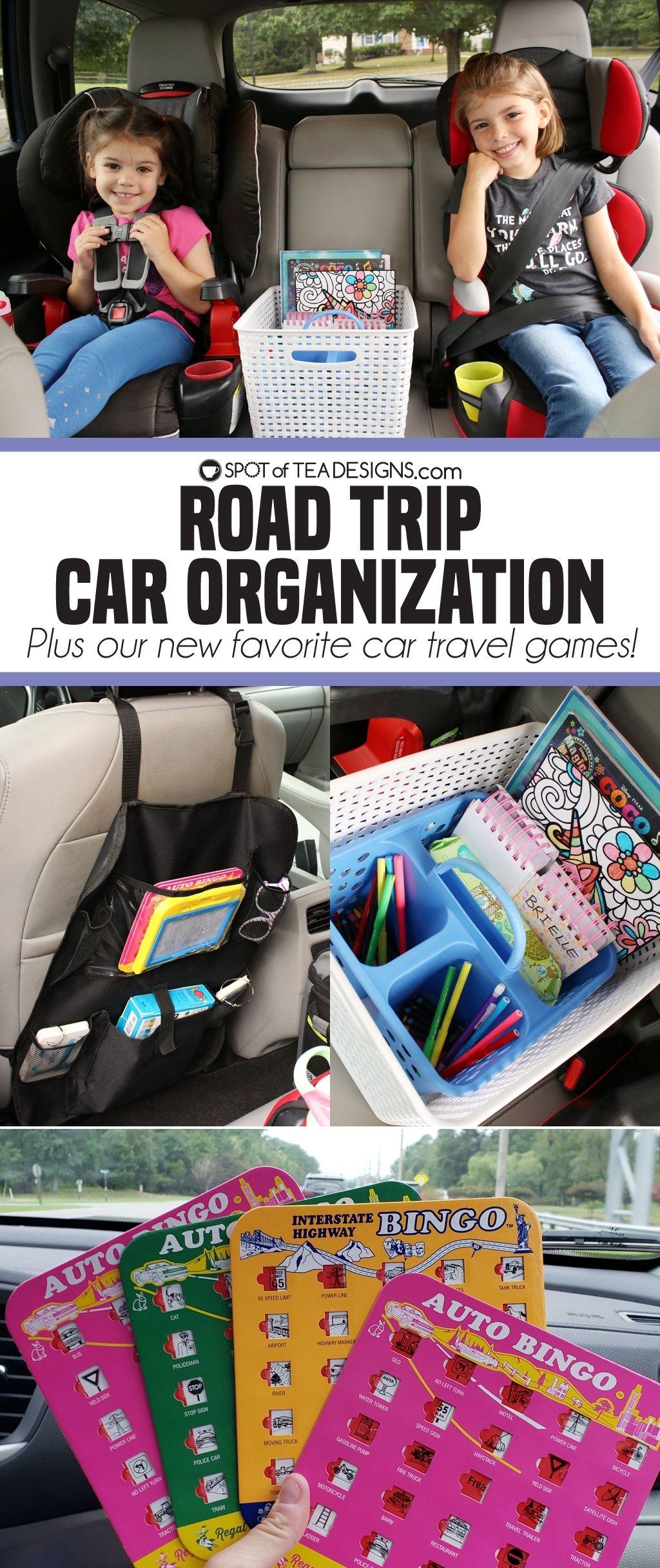 Road Trip Car Organization Tea design, Road trip