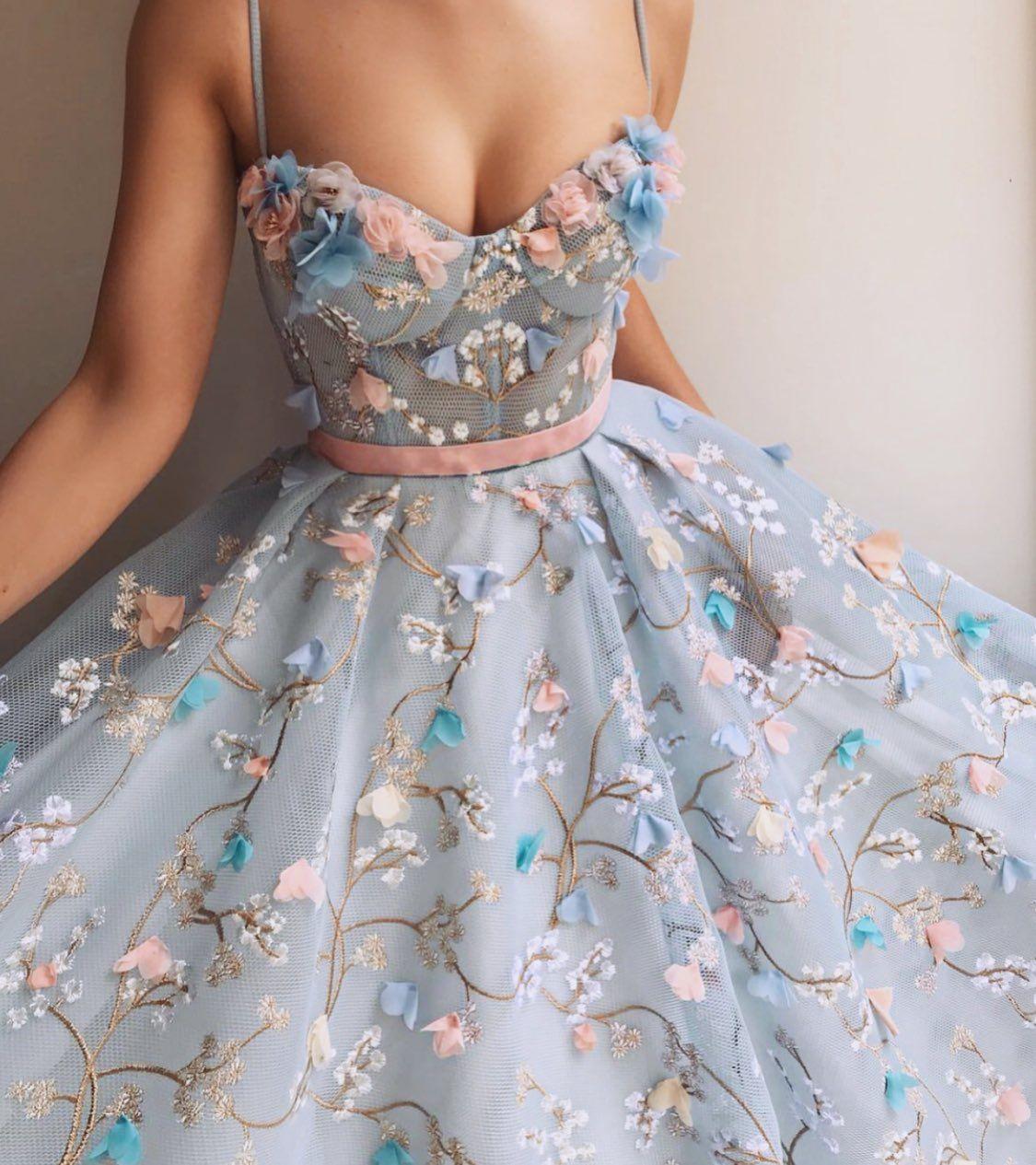 Pin by eva callista on dress pinterest floral ribbon neckline