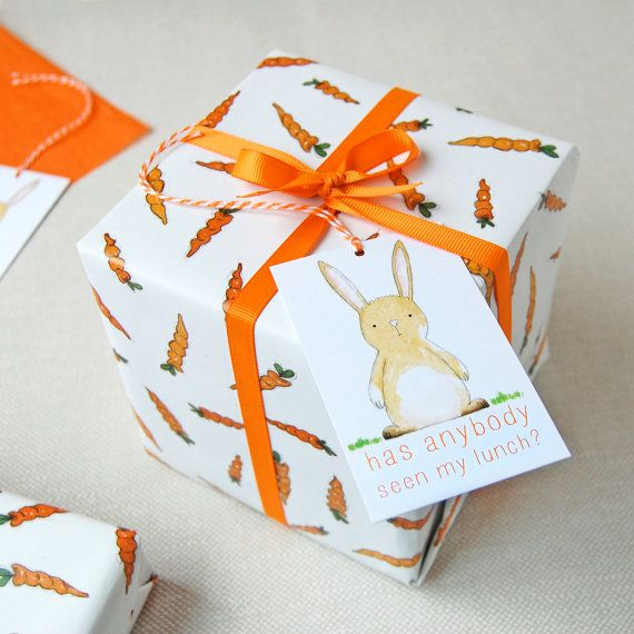 Carrots and rabbits wrapping paper set bunny gift wrap quirky carrots and rabbits wrapping paper set gift wrap quirky eco friendly paper easter negle Image collections
