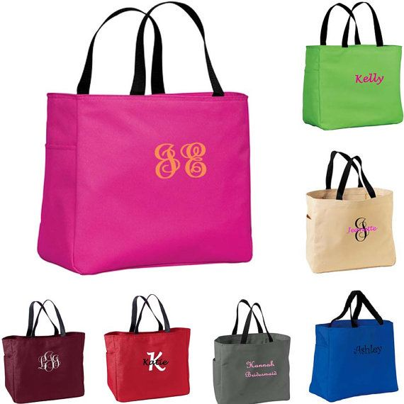 Personalized bridesmaid gift tote bag by personalizedgiftsbyj 12 personalized bridesmaid gift tote bags and tumblers set personalized tote bridesmaids gift monogrammed tote getting ready bag negle Image collections