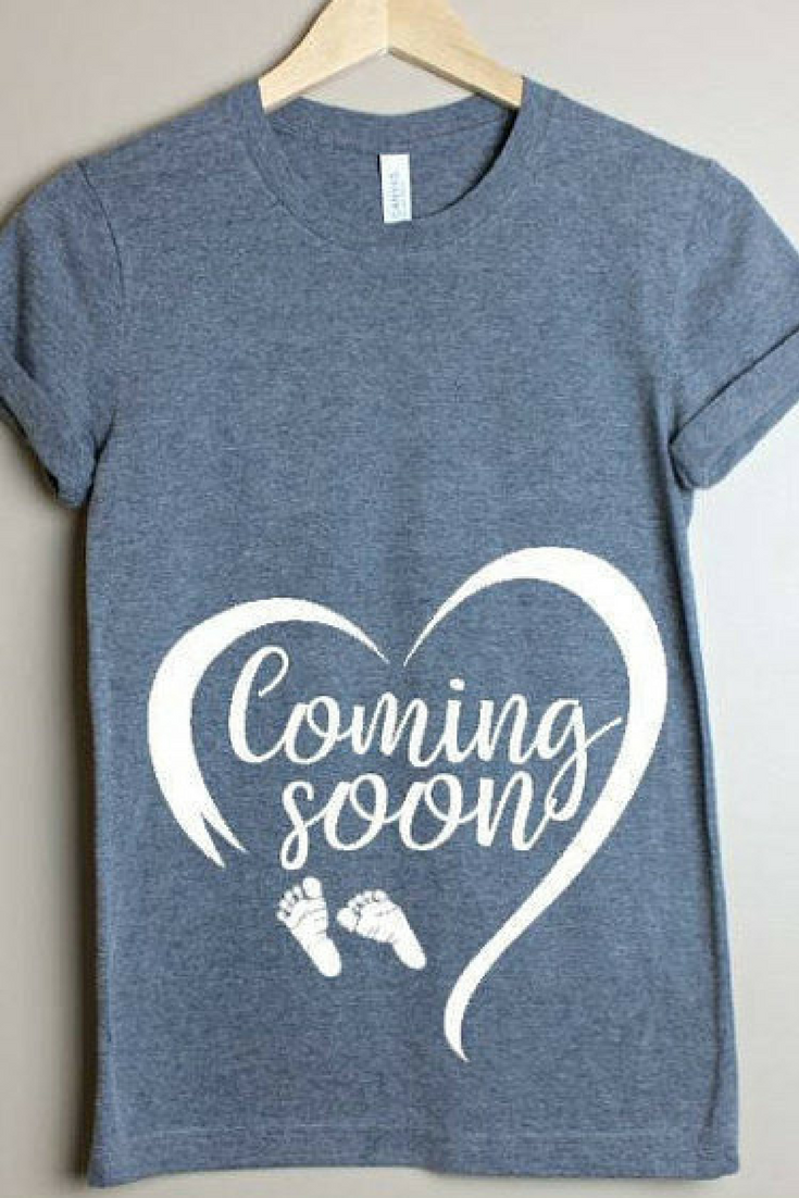 e691f4527 Coming Soon Pregnancy Shirt- Mommy to be- Pregnancy Announcement ...