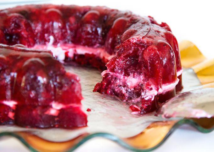 Cran Raspberry Jello Salad Recipe Jello Mold Recipes Raspberry Jello Salad Sour Cream Recipes